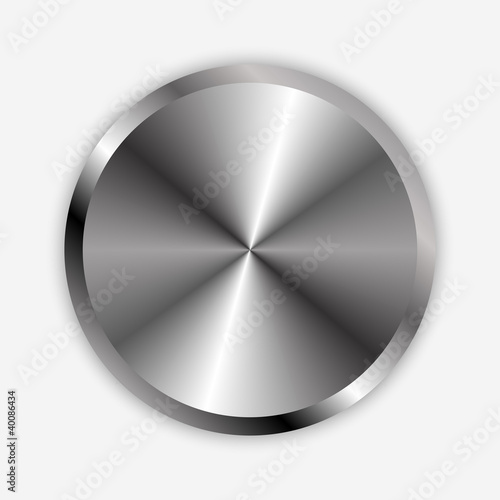Vector illustration of chrome knob