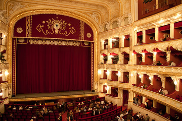 Interior of Opera house in Odassa, Ukraine