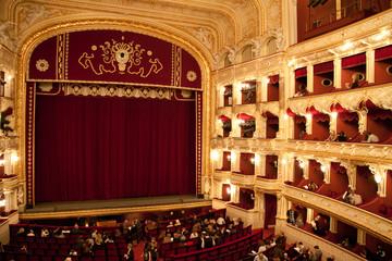 Interior of Opera house in Odassa, Ukraine