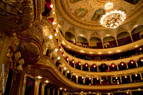 Interior of Opera house in Odassa, Ukraine - 40088890