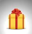 shopping gift box, vector box icon