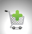 add to shopping cart, vector shopping cart sign icon
