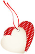 Hangtag 2 Hearts Hearts Red Bow