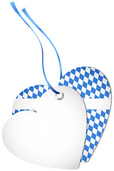 Hangtag 2 Hearts Octoberfest Middle Blue