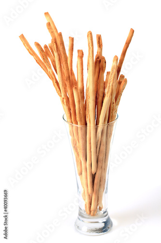 Breadsticks in glass