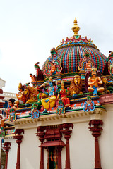 Hinduistic temple Shri-Mariamman. Chinatown, Singapore