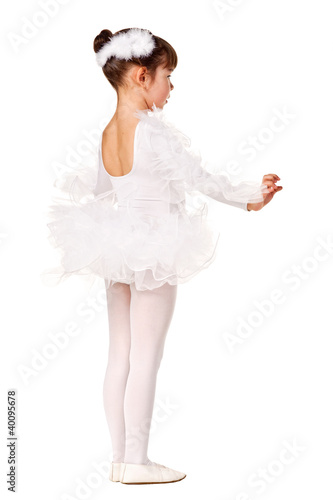 Little girl in the dance pose