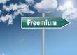 """Signpost """"Freemium"""""""