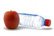 apfel und wasserflasche