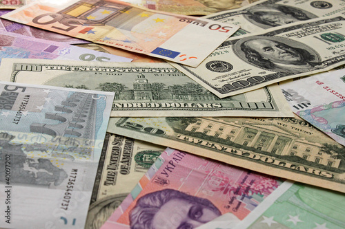 currencies: euro, dollar, rouble, hrivna