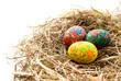 Постер, плакат: Расмисанные пасхальные яйца
