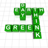 Earth Day think green poster