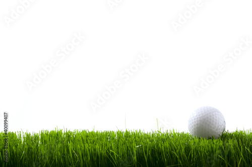 Poster Golf Golf ball on green grass