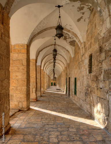 Fototapeta Arches on the Temple Mount in Jerusalem