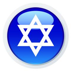Ícone azul com a estrela de David