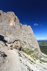 Dolomites - view from Sassolungo mount