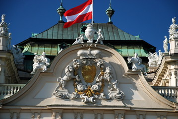 Detail of the upper Belvedere Palace, Vienna