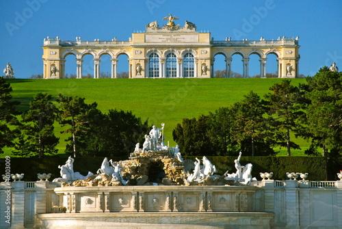Foto op Plexiglas Kasteel Gloriette, parco di Schönbrunn, Vienna