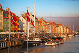 Copenhagen (Nyhavn district) in a sunny summer day poster
