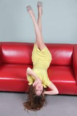 female legs up