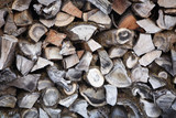 Stacked Woodpile poster