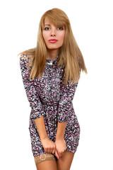 Портрет девушки в платье