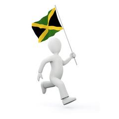 Holding a jamaican flag