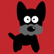 Small Black Dog Vector - Terrier or Schnauzer
