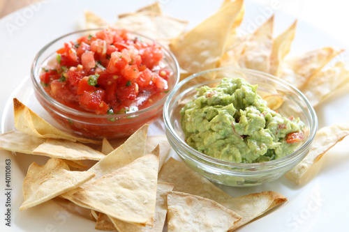 Chips, Guacamole and Salsa