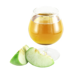 Apple juice with apple pieces