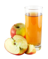 Apple juice with colorful apples