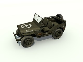 3D Isolated Willys Jeep