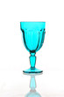 Colorful special blue glass