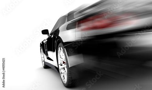 Black speed car © Cla78