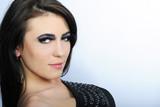 Beautiful stylish girl with additional lash