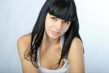Beautiful girl brunette