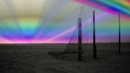 Polar aurora on the horizon