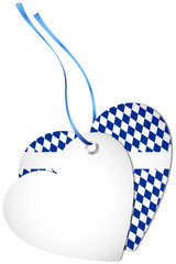 Hangtag 2 Hearts Octoberfest Dark Blue