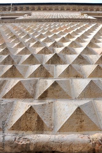 Ferrara (Italy), diamond shaped wall of famous ancient palace