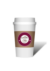 Kaffee Becher Plastik