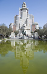 Cervantes monument Madrid.