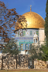 Dome of the Rock mosque. Jerusalem, Israel.
