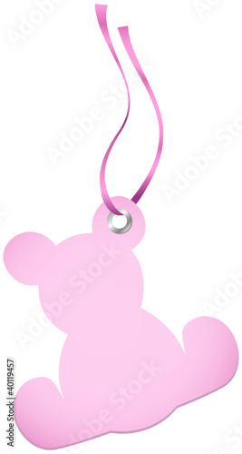Hangtags Beige Rose Teddy Rose Bow
