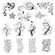 Floral ornatedesign elements