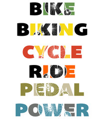 Cycling text graphics