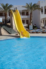 down on slide