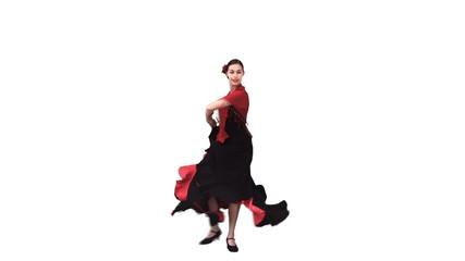 Woman dancing in a dress in slow motion
