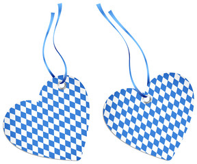 2 Hangtags Heart Octoberfest Middle Blue