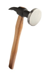 Traditional hammer on white with clipping path