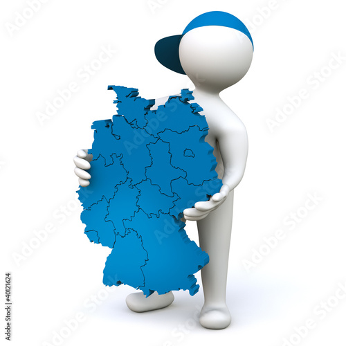 3D Man Germany map